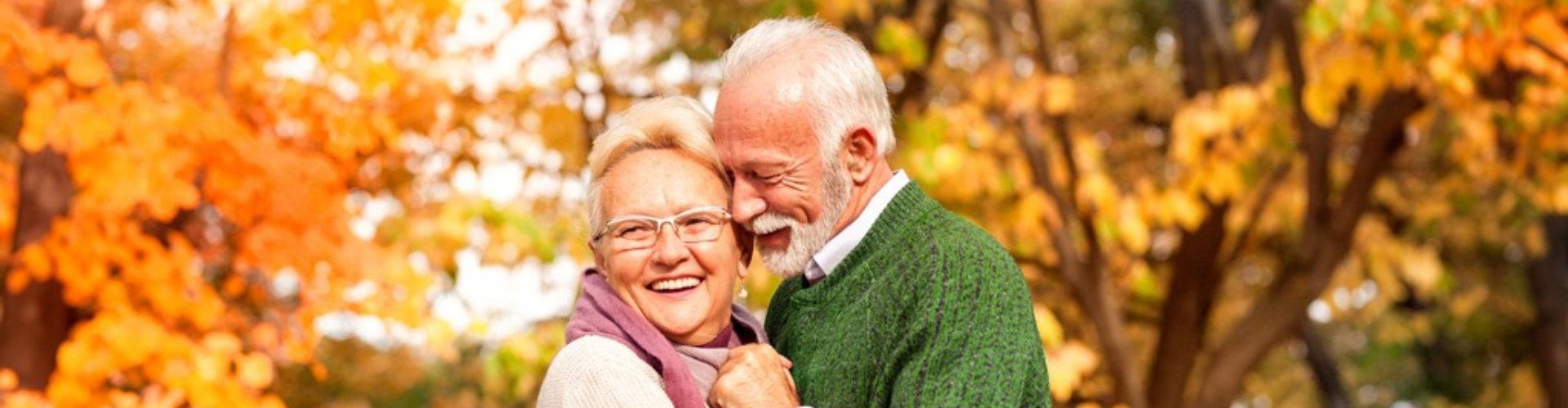 senior couple on the park